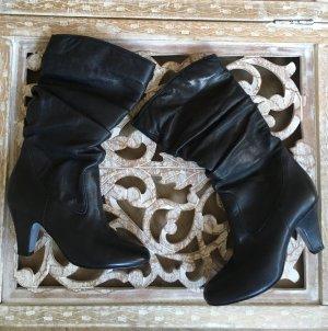 andrée Jackboots dark blue leather
