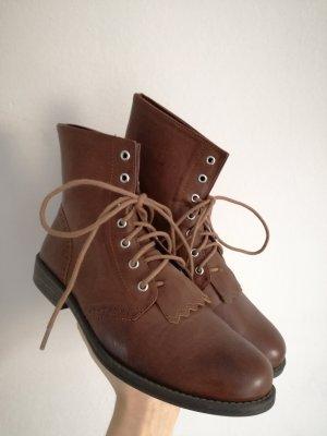 H&M Botas con cordones marrón
