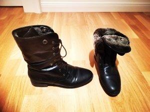 Leder Stiefel Ankle boots Damen schwarz Gerry Weber