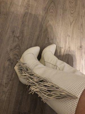Leder Stiefel beige