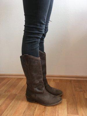 Leder Stiefel Cowboy Boho Style