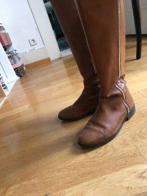Pier one Botas de equitación marrón-coñac Cuero