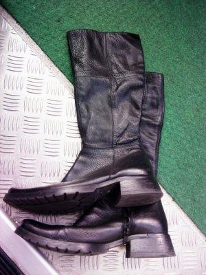 Leder Stiefel gr 39 schwarz