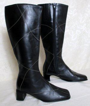 Leder Stiefel Größe 38 DORNDORF Schwarz Warmfutter