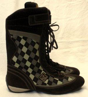 Leder Stiefel Größe 42 Sportive Boxer Boots Kariert