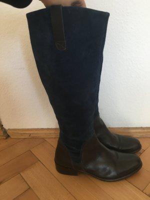 Leder Stiefel in Braun