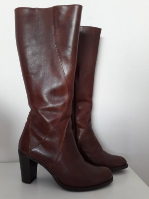 High Heel Boots brown leather