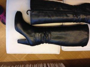 Leder Stiefel schwarz