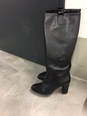Leder Stiefel schwarz Tamaris Gr. 39