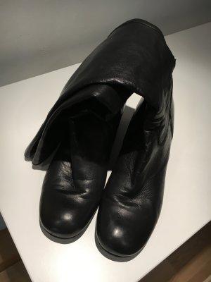 Leder Stiefel schwarz Top