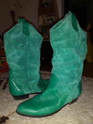 Brede Schacht Laarzen groen-grasgroen