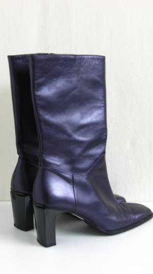 Leder Stiefel, violett