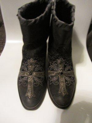 Leder Stiefel von Cuoio Vero Gr.36-36,5/ NP.290€/ GRAU