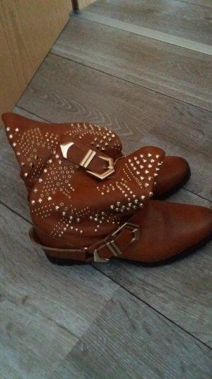 Zara Western Booties beige-brown