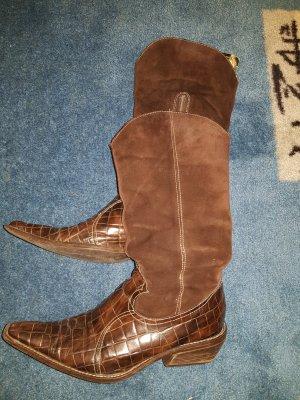 no name Botas estilo vaquero marrón-marrón oscuro