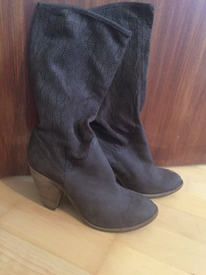 vic Western Booties dark brown