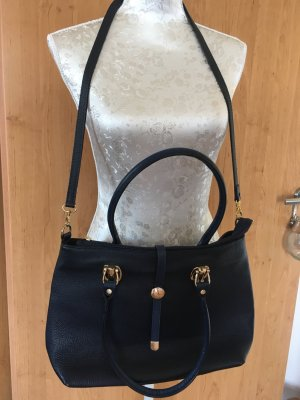 Vera Pelle Crossbody bag gold-colored-dark blue
