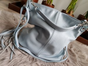 Leder Tasche Hellblau