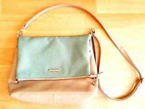 Manguun Crossbody bag beige-sage green leather