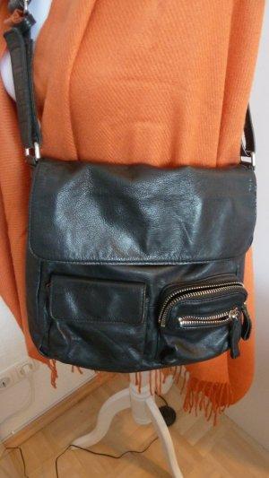 Leder Tasche in Schwarz von Jost