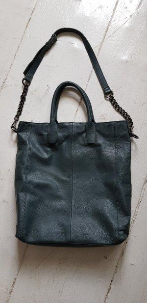 Leder Tasche,Shopper von Zign Dunkelgrün