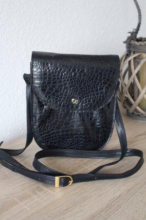 Leder-Tasche Umhängetasche Echtleder Handtasche schwarz Abendtasche Marc Foret