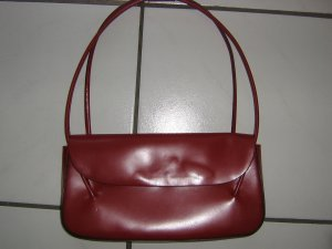 abro Handbag bordeaux leather