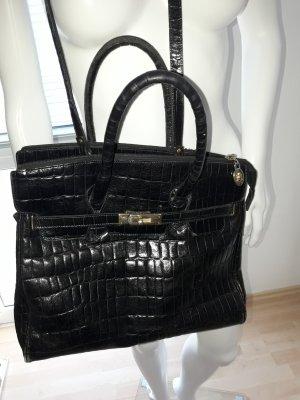 Leder Tasche von Anuschka schwarz.