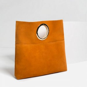 Leder Tasche Zara Henkel Blogger Style Retro