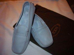 0039 Italy Chaussures bleu azur cuir