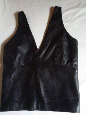 Bisou Bisou Backless Top black leather