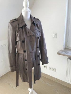 Leder Trenchcoat