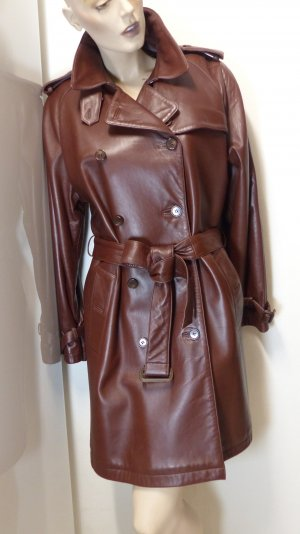 Trench Coat brown-brown red leather