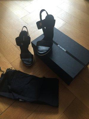 Leder Wedges in schwarz von Bikkembergs