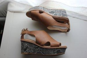H&M Premium Sandalo alto con plateau multicolore Pelle
