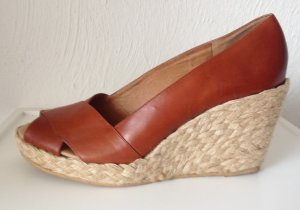 Michael Kors Wedge Sandals bronze-colored-cream leather
