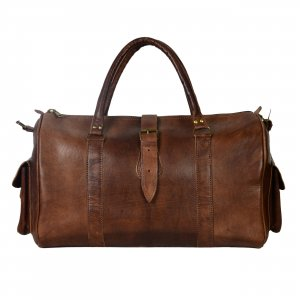 Weekender Bag dark brown leather
