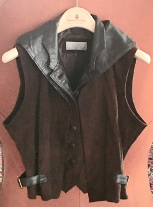 Leather Vest multicolored