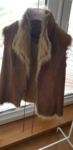 Oakwood Smanicato di pelliccia marrone chiaro Scamosciato