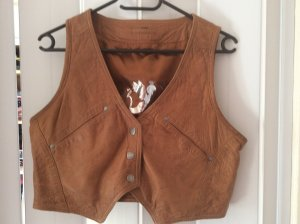 Mauritius Leather Vest brown leather