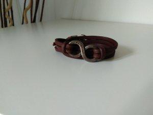 Leder Wickelarmband im Used-Look