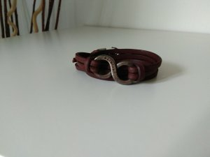 Leder Wickelarmband im Used-Look