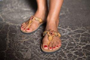 Leder Zehensandalen Flip Flops aus Brasilien