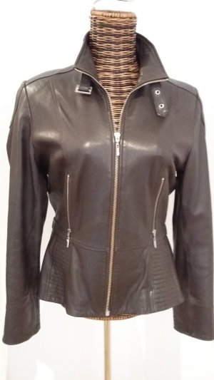 Biba Leather Jacket dark brown