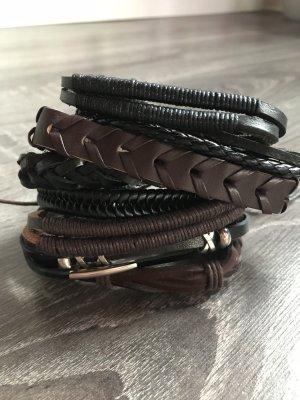 Pulsera negro-marrón