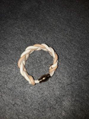 Bracelet cream-beige leather