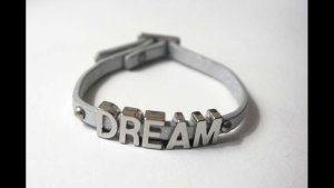 "Lederarmband ""Dream"" silber"