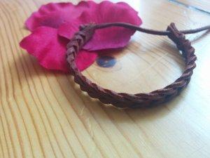 Lederarmband Flechtarmband braun aus Spanien NEU