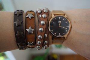 Leather Bracelet cognac-coloured-brown leather