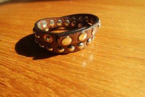 Bracelet en cuir brun-cognac cuir